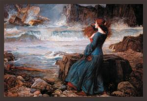 Miranda and the Tempest by John William Waterhouse