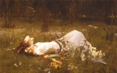 Ophelia, c.1889 by John William Waterhouse