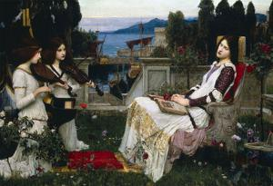 John William Waterhouse Saint Cecilia Art Print Poster