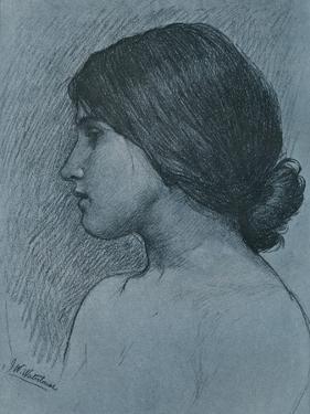 Study of a Head, C1899 by John William Waterhouse