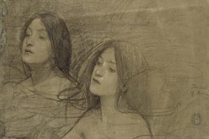 Study of Two Nymphs for 'Hylas and the Nymphs' by John William Waterhouse