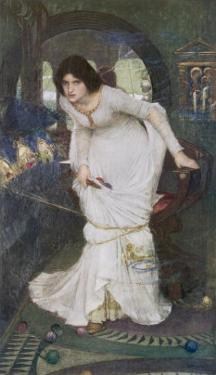 """""""The Curse is Come Upon Me"""" Cried the Lady of Shalott by John William Waterhouse"""