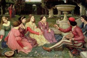 The Decameron, 1916 by John William Waterhouse