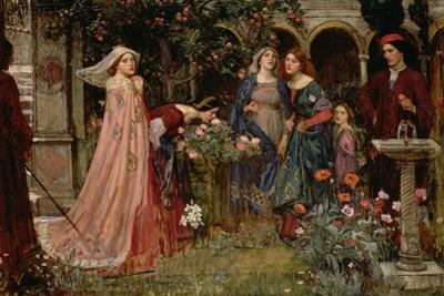 The Enchanted Garden, c.1916-17 by John William Waterhouse