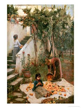The Orange Gatherers by John William Waterhouse