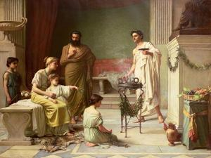 The Visit of a Sick Child to the Temple of Aesculapius, 1877 by John William Waterhouse