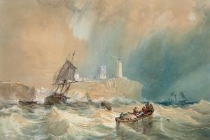 A Trading Brig Running Out of Tynemouth by John Wilson Carmichael