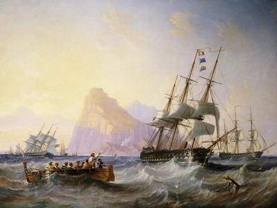 British Men O' War Off Gibraltar, 1855