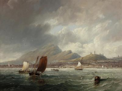 Leith and Edinburgh from the Firth of Forth, 1847