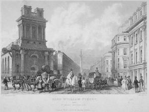 Church of St Mary Woolnoth, City of London, 1840 by John Woods