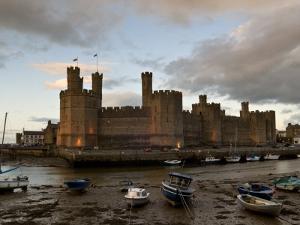 Caernarfon Castle, Caernarfon, UNESCO World Heritage Site, Wales, United Kingdom, Europe by John Woodworth