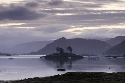 Dawn View of Plockton and Loch Carron Near the Kyle of Lochalsh in the Scottish Highlands