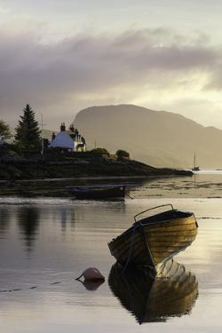 Dawn View of Plockton and Loch Carron Near the Kyle of Lochalsh in the Scottish Highlands by John Woodworth