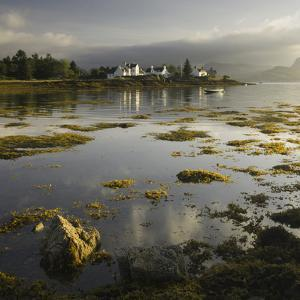 Dawn View of Plockton Harbour and Loch Carron Near the Kyle of Lochalsh in the Scottish Highlands by John Woodworth