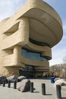 Entrance to Smithsonian National Museum of the American Indian in Washington by John Woodworth