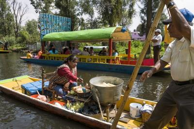 Food Vendor at the Floating Gardens in Xochimilco