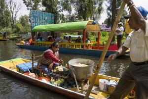 Food Vendor at the Floating Gardens in Xochimilco by John Woodworth