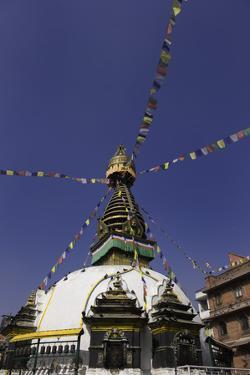 Shree Gha Buddhist Stupa, Thamel, Kathmandu, Nepal, Asia by John Woodworth