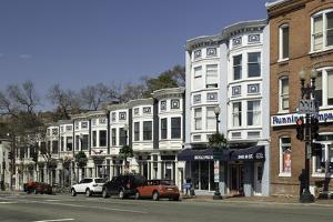 Street Scene in the Georgetown Neighbourhood of Washington by John Woodworth