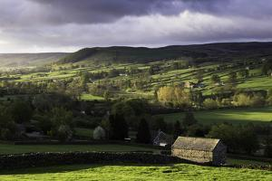 View Down the Valley of Swaledale Taken from Just Outside Reeth by John Woodworth