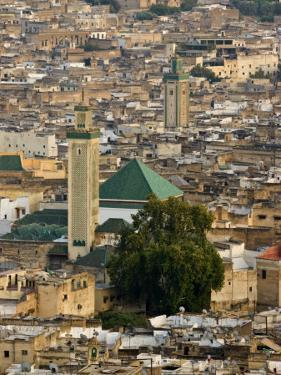 View of City from the Hills Surrounding, Fez, Morocco, North Africa, Africa by John Woodworth