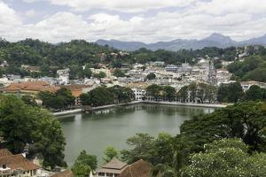 View of the Lake and Town of Kandy, Sri Lanka, Asia by John Woodworth