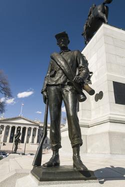 William Tecumseh Sherman Monument in Sherman Square in Washington by John Woodworth