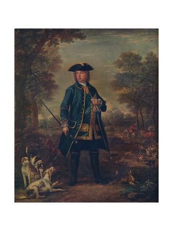 'Sir Robert Walpole wth Hounds', c18th century