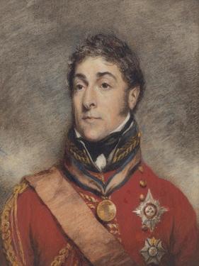 Portrait Miniature of Stapleton Cotton, 1st Viscount Combermere, C.1812 by John Wright