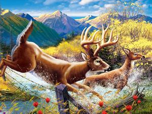 Big Buck HD Cabinet Art by John Youssi