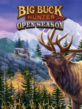 Big Buck Pro Open Season Cabinet Art with Logo by John Youssi