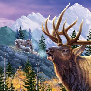 Big Buck Pro Open Season Cabinet Art by John Youssi