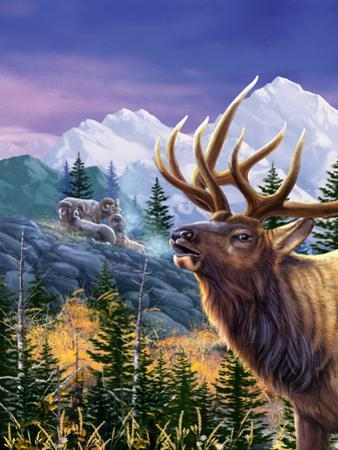 Big Buck Pro Open Season Cabinet Art by John Youssi