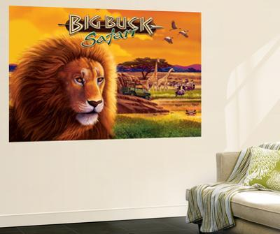 Big Buck Safari Cabinet Art with Logo by John Youssi