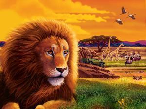 Big Buck Safari Cabinet Art by John Youssi