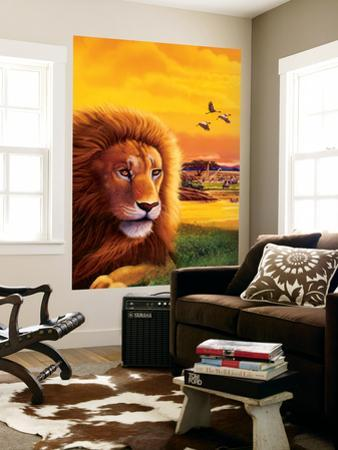 Big Buck Safari Lion Cabinet Art by John Youssi