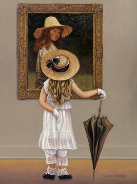 Girl in Museum by John Zaccheo