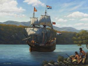 Half Moon on the Hudson by John Zaccheo