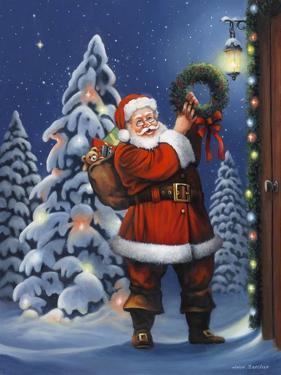 Santa Wreath by John Zaccheo
