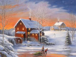 Winter at the Old Mill by John Zaccheo