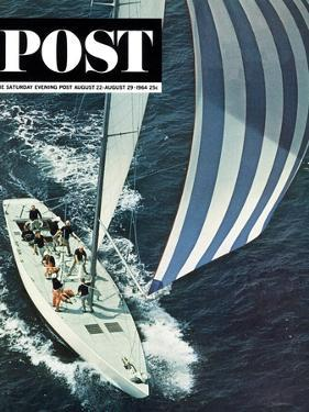 """""""America's Cup,"""" Saturday Evening Post Cover, August 22, 1964 by John Zimmerman"""