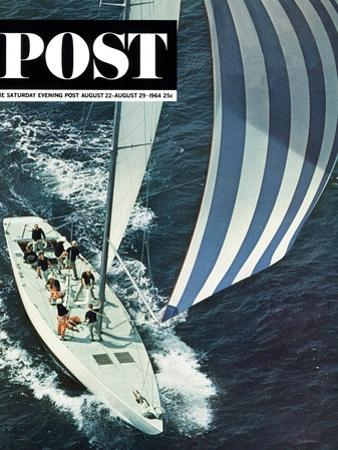 """America's Cup,"" Saturday Evening Post Cover, August 22, 1964"