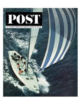 """America's Cup,"" Saturday Evening Post Cover, August 22, 1964 by John Zimmerman"