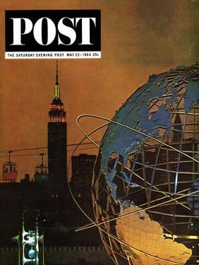"""New York World's Fair,"" Saturday Evening Post Cover, May 23, 1964 by John Zimmerman"