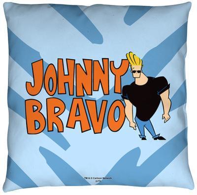 Johnny Bravo - Logo Throw Pillow