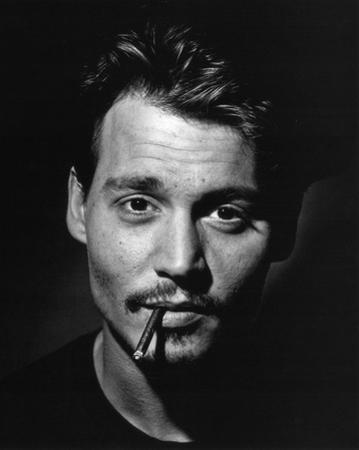 Johnny Depp (Smoking, B&W) Glossy Movie Photo Photograph Print