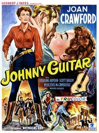 Johnny Guitar, Joan Crawford, Sterling Hayden, (Belgian Poster Art), 1954.