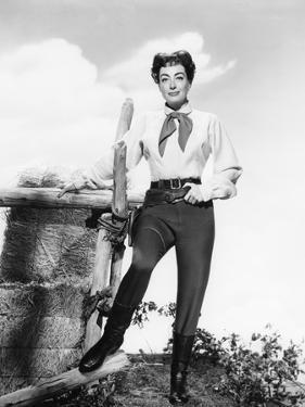 JOHNNY GUITARE, 1954 DIRECETD BY NICOLAS RAY Joan Crawford (b/w photo)
