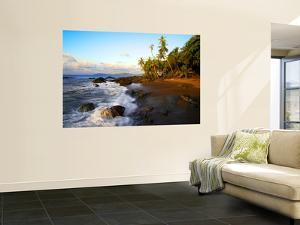 Beach on Pacific Ocean on West Coast of Costa Rica by Johnny Haglund