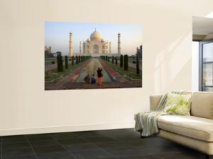 Visitors Taking Photos of Taj Mahal by Johnny Haglund